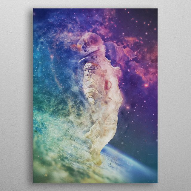Psychedelic Astronaut metal poster