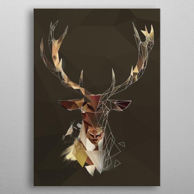 Deer Antlers - sketch metal poster