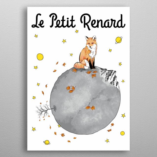 Le Petit Renard metal poster