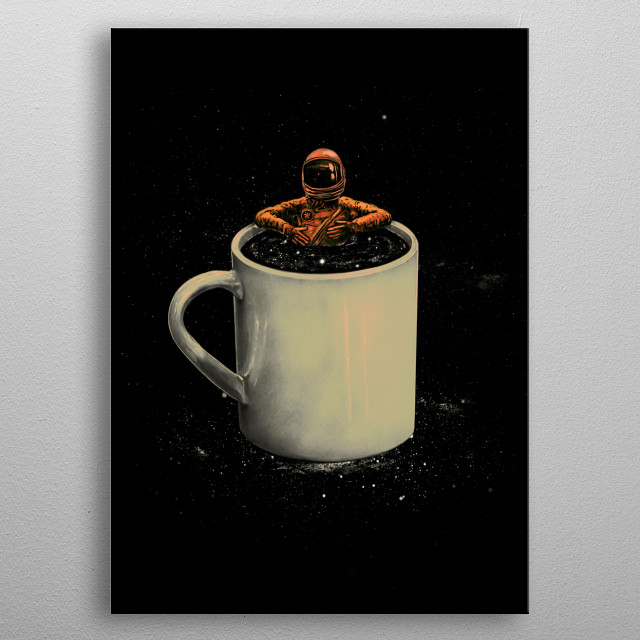Space Coffee metal poster