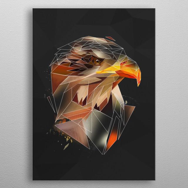 Eagle - sketch metal poster