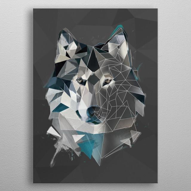 Wolf - sketch metal poster