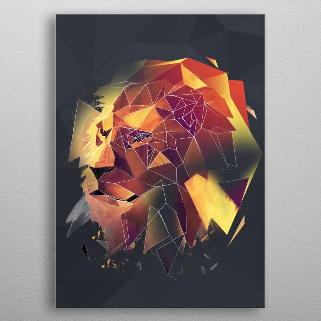 Lion - sketch metal poster