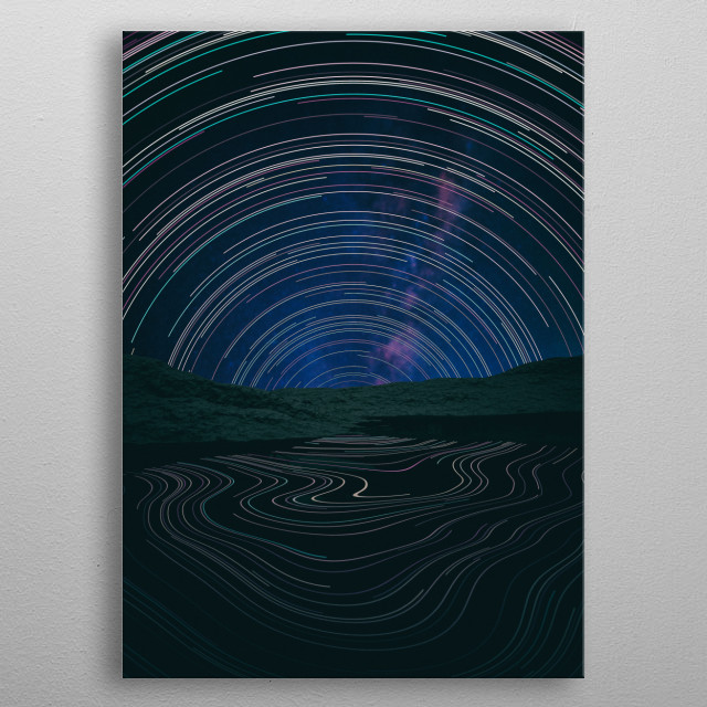 Star Trail  metal poster