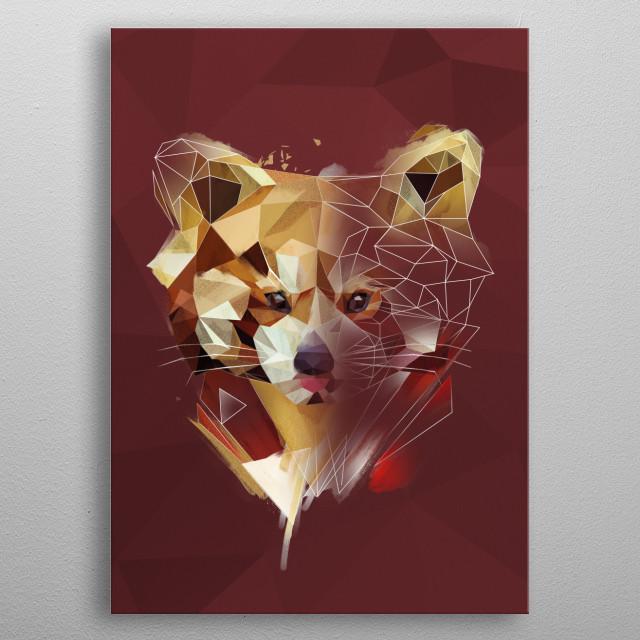 Red Panda - sketch metal poster