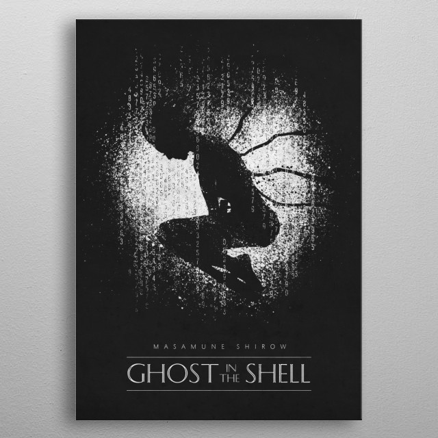 Ghost in the Shell metal poster
