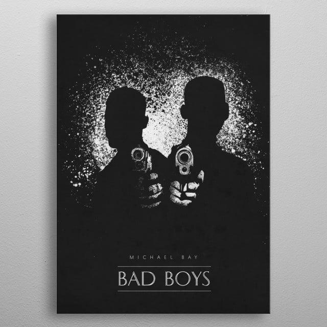 Bad Boys metal poster