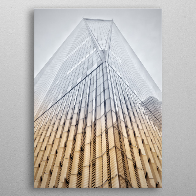 One World Trade Center (also known as 1 World Trade Center, 1 WTC or Freedom Tower is the main building of the rebuilt World Trade Center com... metal poster