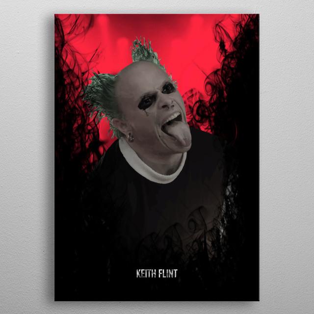 Keith Flint metal poster