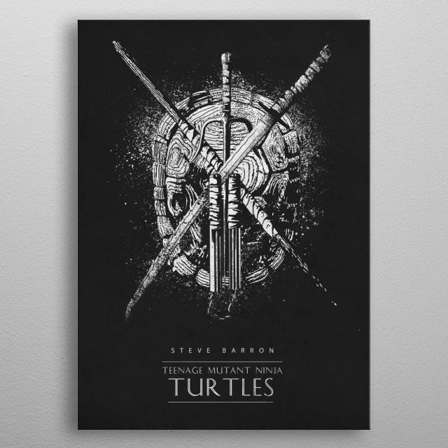 Teenage Mutant Ninja Turtles metal poster