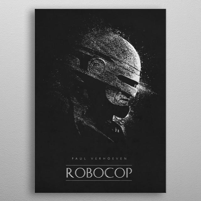 Robocop metal poster