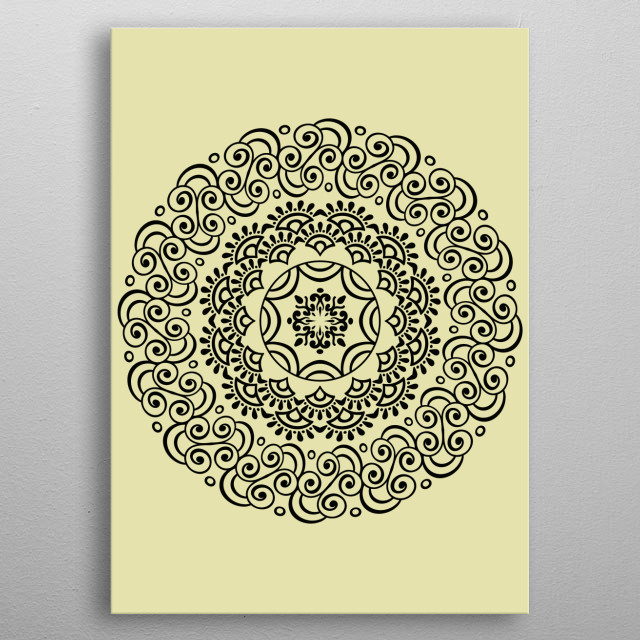 Mandala Pattern metal poster