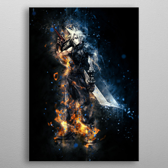 Cloud - FFVII metal poster