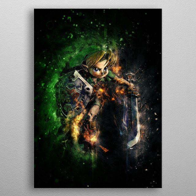 Link - Majoras Mask metal poster