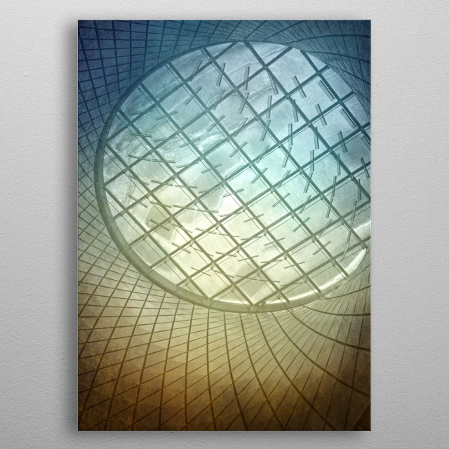Structured Dreams metal poster