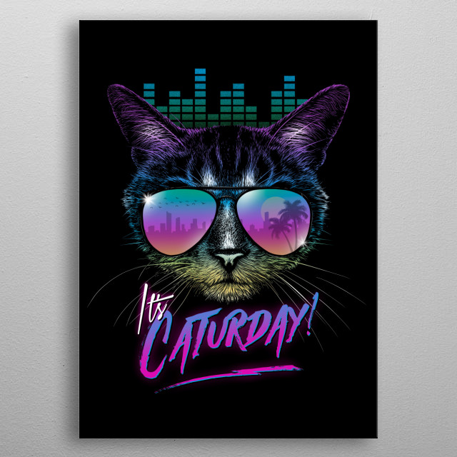 Caturday! metal poster