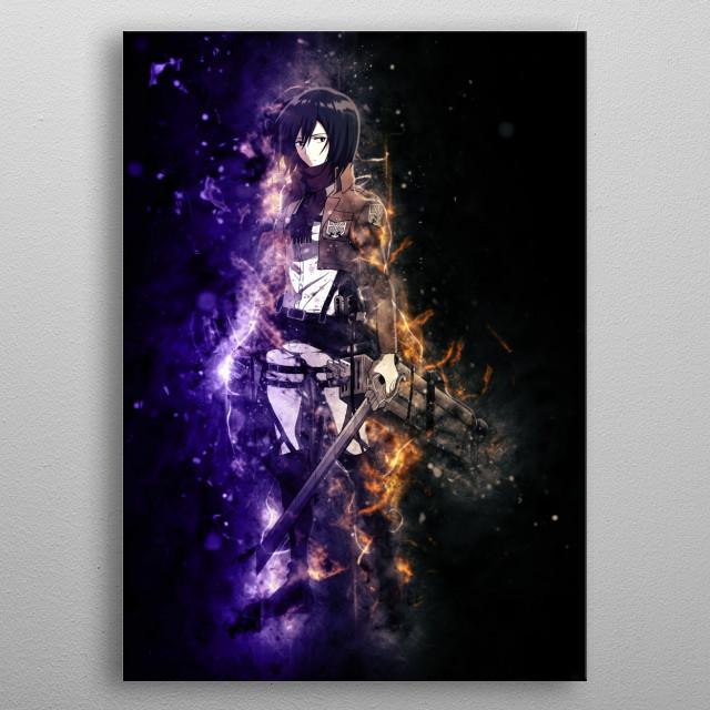 Mikasa - Attack on Titan  metal poster