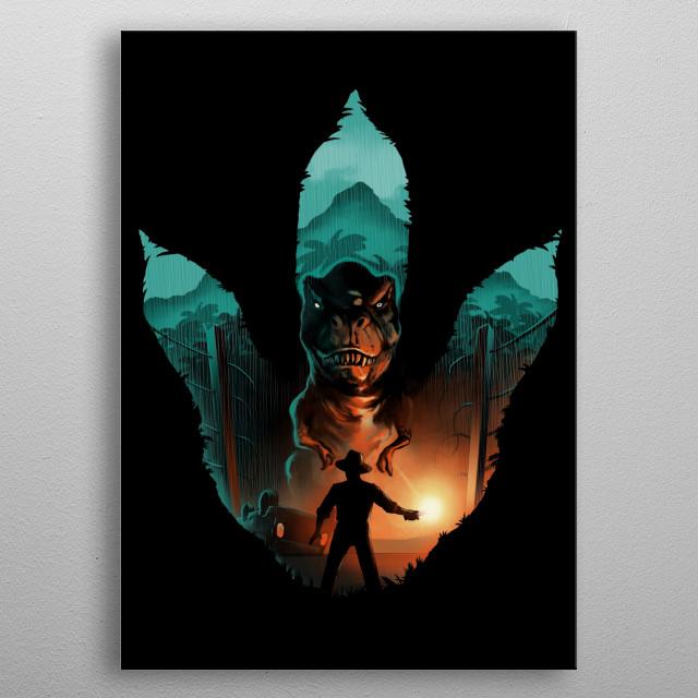 Jurassic Footprint metal poster