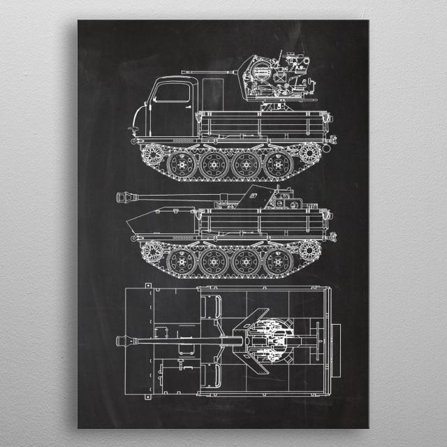 RSO Raupenschlepper metal poster