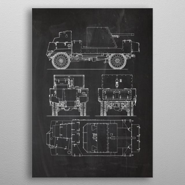 Deacon - British Fighting Vehicle metal poster