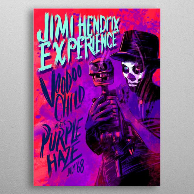 Jimi Hendrix Experience metal poster
