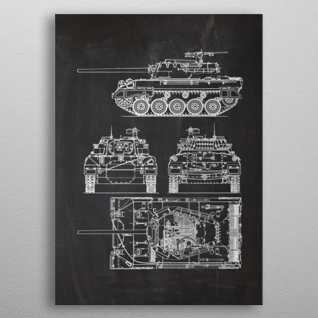 76 mm Gun Motor Carriage M18 Hellcat metal poster