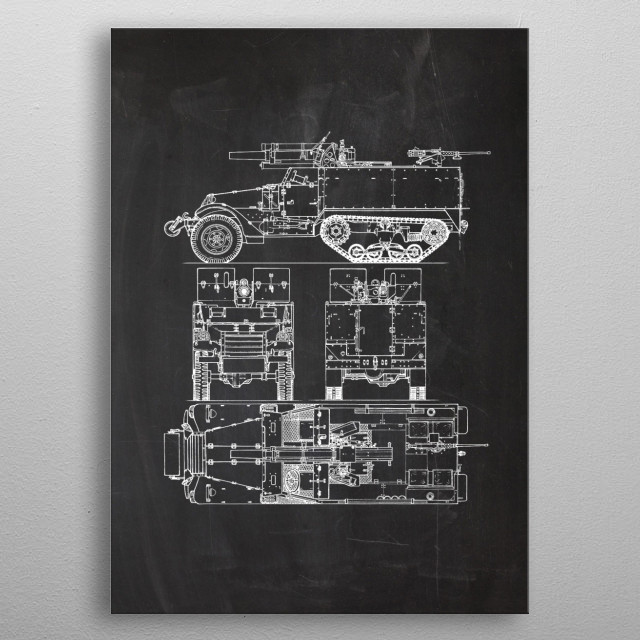 T19 105mm Howitzer Motor Carriage metal poster