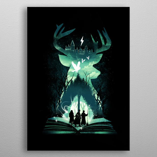 The Magic Never Ends metal poster