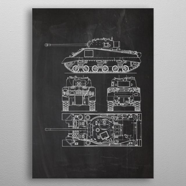 Tank Sherman VC Firefly metal poster