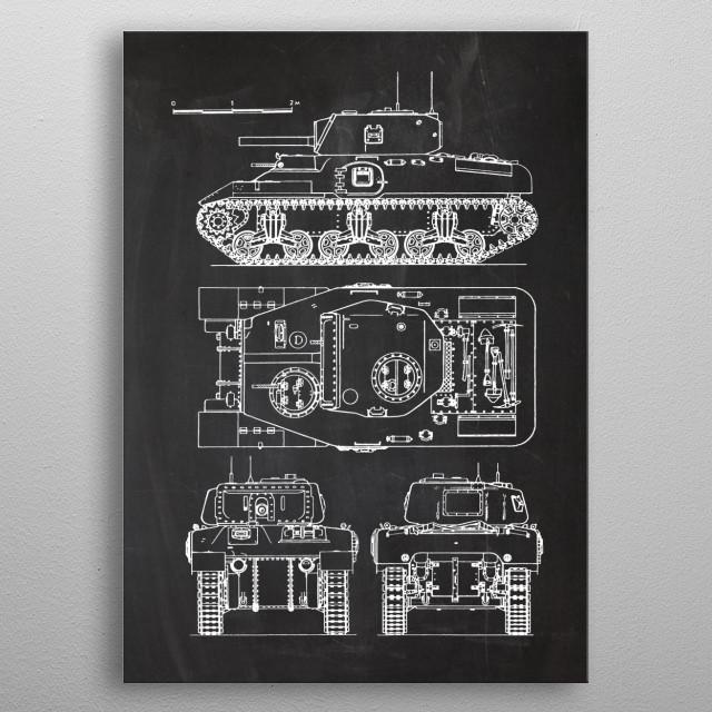 Ram II Cruiser Tank metal poster