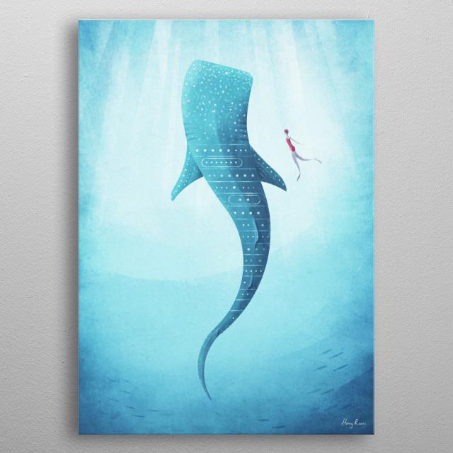 Whale Shark metal poster