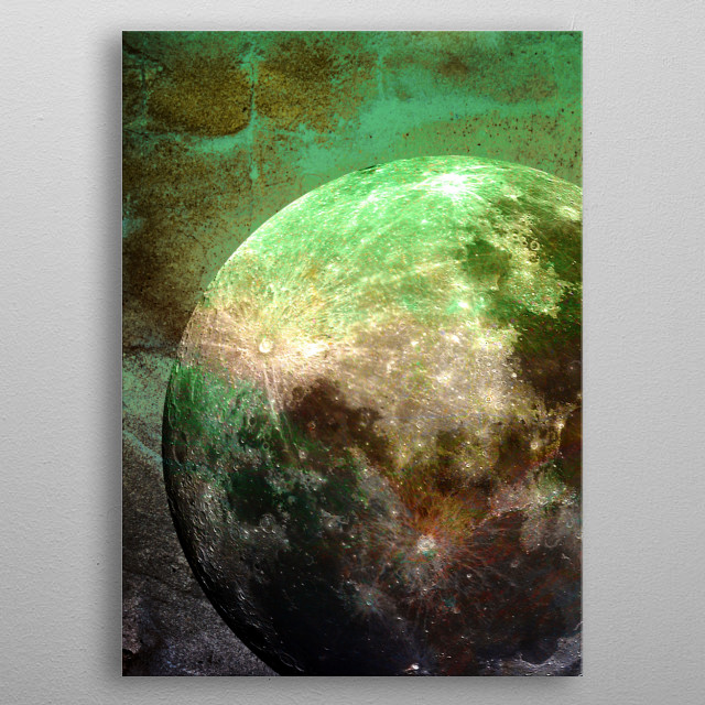 High-quality metal print from amazing Moon Landscapes collection will bring unique style to your space and will show off your personality. metal poster
