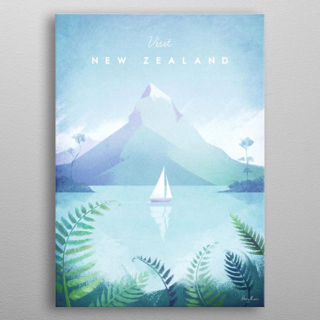 New Zealand metal poster
