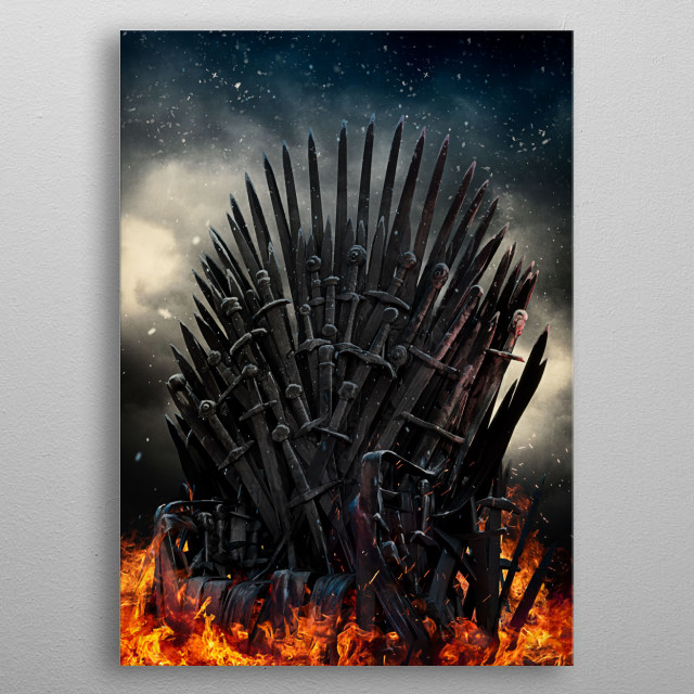 The Iron Throne metal poster