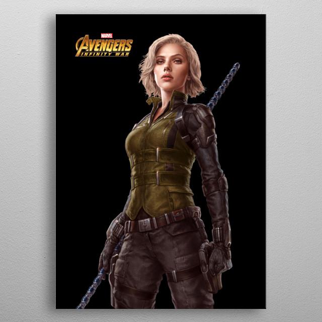 Black Widow metal poster
