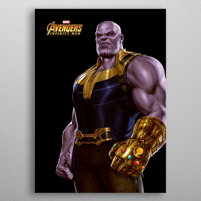 High-quality metal print from amazing Heroes Of Infinity War collection will bring unique style to your space and will show off your personality. metal poster