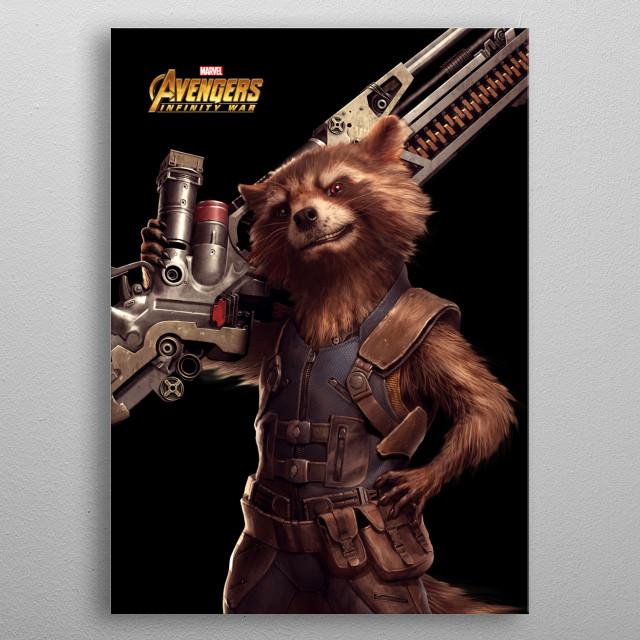 Rocket metal poster