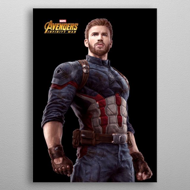 Captain America metal poster