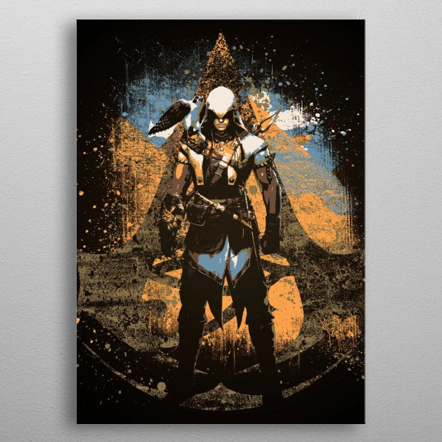 Fascinating metal poster designed by Martin Hastings. Displate has a unique signature and hologram on the back to add authenticity to each design. metal poster