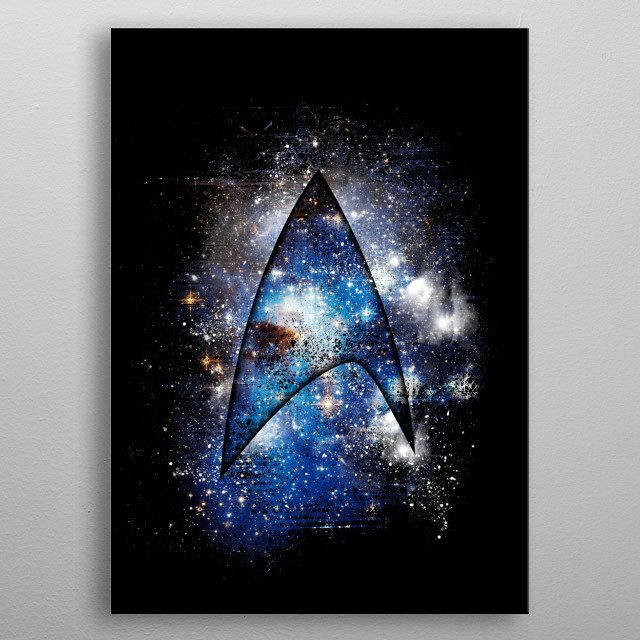Discover metal poster