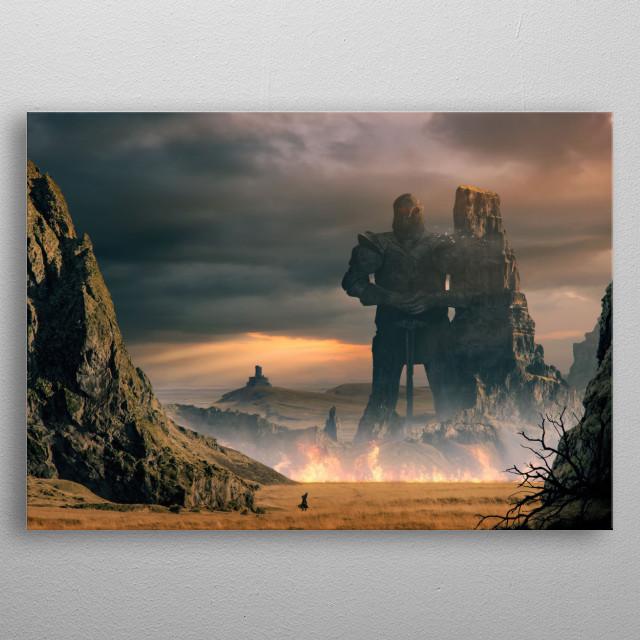 Colossus metal poster