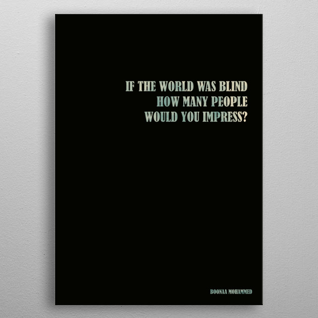 Boonaa Mohammed - quote metal poster