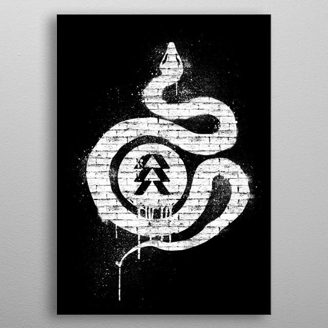 Hunter Graffiti metal poster