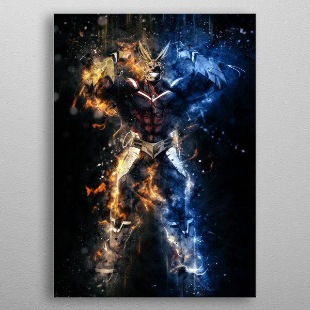 All might - My Hero Academia  metal poster