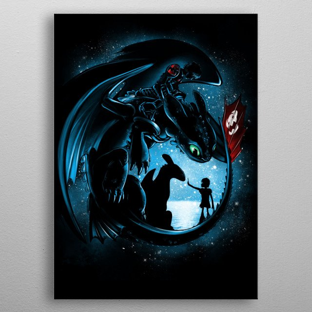 Fascinating metal poster designed by Alessio Magliano. Displate has a unique signature and hologram on the back to add authenticity to each design. metal poster