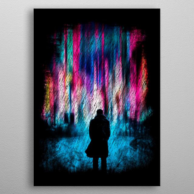 Neoncity metal poster