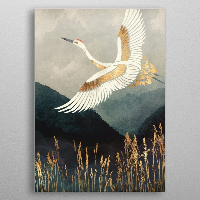 Elegant Flight metal poster