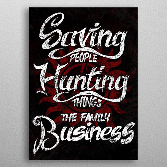 Saving People Motto metal poster