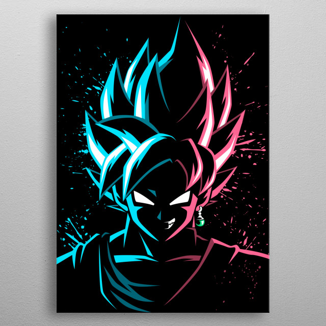 Face to face Blue vs Rose metal poster
