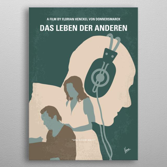 No918 My Das Leben der Anderen minimal movie poste metal poster